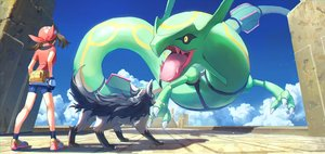 Rating: Safe Score: 44 Tags: clouds haruka_(pokemon) mightyena pippi_(p3i2) pokemon rayquaza User: FormX