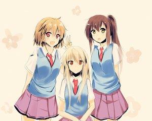 Rating: Safe Score: 146 Tags: aoyama_nanami jpeg_artifacts kamiigusa_misaki sakura-sou_no_pet_na_kanojo school_uniform shiina_mashiro tagme_(artist) User: C4R10Z123GT
