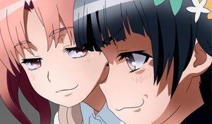 Rating: Safe Score: 48 Tags: 2girls black_hair blush brown_hair cat_smile close pink_eyes shirai_kuroko to_aru_kagaku_no_railgun to_aru_majutsu_no_index twintails uiharu_kazari User: shizukane