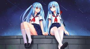 Rating: Safe Score: 53 Tags: 2girls anthropomorphism fubuki_(zhanjian_shaonu) school_uniform shirayuki_(zhanjian_shaonu) tagme_(artist) zhanjian_shaonu User: luckyluna