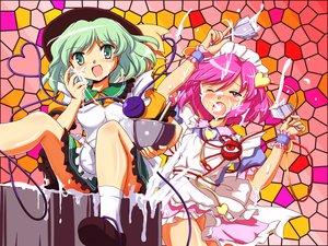 Rating: Safe Score: 30 Tags: dress flx green_hair hat komeiji_koishi komeiji_satori pink_hair touhou User: opai