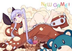 Rating: Safe Score: 49 Tags: ass barefoot bra new_game! panties purple_eyes purple_hair ryuuno6 suzukaze_aoba teddy_bear twintails underwear User: FormX