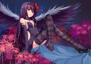 Rating: Safe Score: 292 Tags: akemi_homura akuma_homura beiyu collar mahou_shoujo_madoka_magica tagme thighhighs wings User: Rihardo