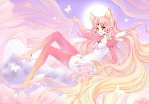 Rating: Safe Score: 15 Tags: animal_ears bodysuit boots butterfly long_hair original pink_hair red_eyes tagme_(artist) User: BattlequeenYume