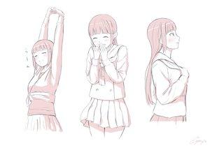 Rating: Safe Score: 26 Tags: blush kurosawa_dia long_hair love_live!_school_idol_project love_live!_sunshine!! papi_(papiron100) polychromatic school_uniform skirt white User: RyuZU