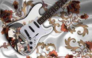 Rating: Safe Score: 73 Tags: black_hair brown_eyes guitar ichihara_yuuko instrument photo third-party_edit watermark xxxholic User: pantu