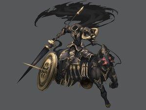 Rating: Safe Score: 46 Tags: animal armor cape ganesagi horse original spear weapon User: FoliFF