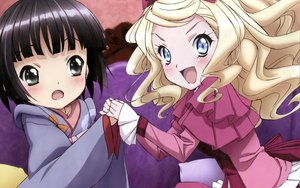 Rating: Safe Score: 22 Tags: 2girls alice_blanche black_eyes black_hair blonde_hair blue_eyes blush bow dress ikoku_meiro_no_croisee japanese_clothes long_hair short_hair yune_(ikoku_meiro_no_croisee) User: meccrain