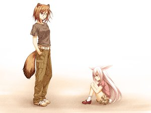 Rating: Safe Score: 117 Tags: 2girls animal_ears brown_hair bunny_ears bunnygirl cigarette game_cg kusahara_hanemi nagumo_ryouko otomimi_infinity purple_eyes tail User: Maboroshi
