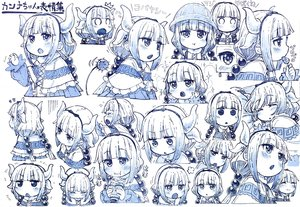Rating: Safe Score: 69 Tags: blue blush candy dress food hat headband horns kanna_kamui kobayashi-san_chi_no_maid_dragon loli lollipop long_hair monochrome sakino_shingetu sketch sleeping tail tears twintails User: otaku_emmy