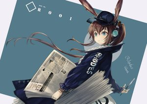 Rating: Safe Score: 37 Tags: amiya_(arknights) animal_ears arknights hakua_mill paper ponytail User: Dreista