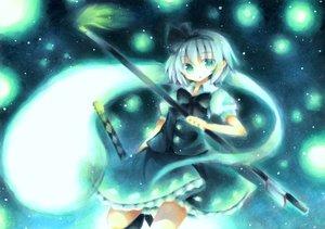 Rating: Safe Score: 32 Tags: aqua_eyes blue konpaku_youmu ribbons short_hair touhou weapon wiriam07 User: PAIIS