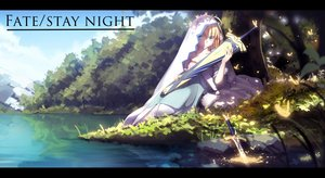 Rating: Safe Score: 106 Tags: fate_(series) fate/stay_night leaves magicians saber sword tree water weapon User: Flandre93