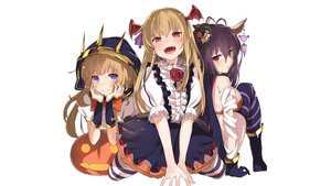 Rating: Safe Score: 134 Tags: aliasing bandage blonde_hair blush boots breasts cagliostro_(granblue_fantasy) cape danua dress fang gloves granblue_fantasy halloween hat horns long_hair pantyhose pointed_ears pumpkin purple_eyes purple_hair red_hair ribbons samanosuke thighhighs vampire vampy wings wristwear User: Hakha