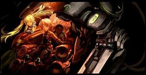 Rating: Safe Score: 57 Tags: blonde_hair green_eyes headphones mecha robot won_(toufunokado) User: mikucchi
