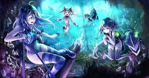 Rating: Safe Score: 70 Tags: anthropomorphism group i-19_(kancolle) i-8_(kancolle) i-class_destroyer kantai_collection kito_(kito2) ro-500_(kancolle) u-511_(kancolle) underwater water User: RyuZU