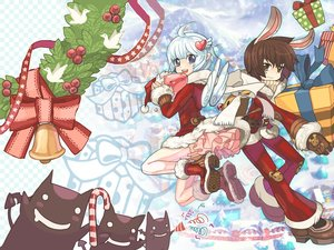 Rating: Safe Score: 32 Tags: animal_ears bunny_ears christmas dress pointed_ears ragnarok_online stockings tagme_(artist) tagme_(character) thighhighs wings User: mattiasc02