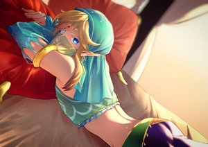Rating: Safe Score: 10 Tags: all_male aqua_eyes bed blonde_hair link_(zelda) male mask pointed_ears rioshima_ayako the_legend_of_zelda User: mattiasc02