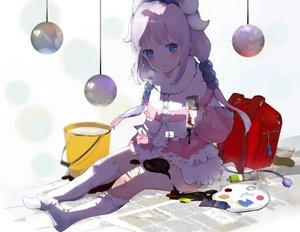 Rating: Safe Score: 74 Tags: aqua_eyes blush cape dress horns itohime kanna_kamui kneehighs kobayashi-san_chi_no_maid_dragon loli long_hair reflection tail twintails white_hair User: otaku_emmy