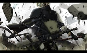 Rating: Safe Score: 95 Tags: blonde_hair blue_eyes cloud_strife final_fantasy final_fantasy_vii final_fantasy_vii_advent_children short_hair sword weapon User: HawthorneKitty