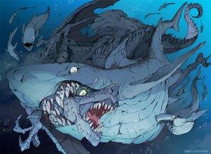 Rating: Safe Score: 56 Tags: animal bubbles demizu_posuka dragon fish original underwater water watermark User: otaku_emmy