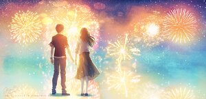 Rating: Safe Score: 29 Tags: fireworks fusui male original polychromatic signed User: FormX