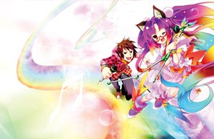 Rating: Safe Score: 20 Tags: amane_(singer) animal_ears beat_mario catgirl glasses kamiya_yuu microphone rainbow wink User: Maboroshi