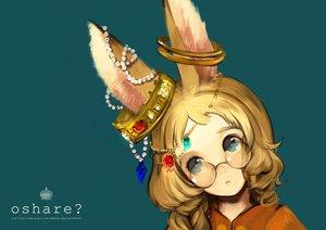 Rating: Safe Score: 76 Tags: animal_ears blonde_hair blue_eyes bunny_ears glasses jpeg_artifacts original yun_(bonopati) User: FormX
