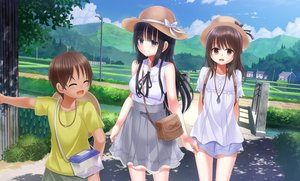 Rating: Safe Score: 23 Tags: building hat hosi-gaki landscape male necklace original scenic shade skirt water User: luckyluna