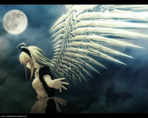 Rating: Safe Score: 259 Tags: angel anna carnevale_della_luce_della_luna maid moon oosaki_shinya wings User: Oyashiro-sama