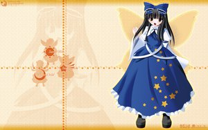 Rating: Safe Score: 18 Tags: black_hair bow brown_eyes dress fairy long_hair side_b stars star_sapphire touhou wings User: schellen