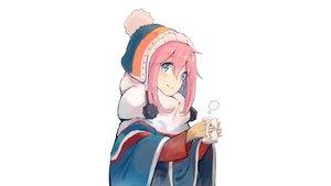 Rating: Safe Score: 49 Tags: blush kagamihara_nadeshiko long_hair nasuno_chiyo photoshop pink_hair scarf white yuru_camp User: rinrinrin