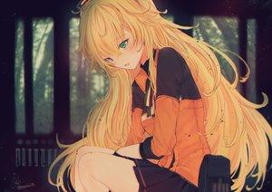 Rating: Safe Score: 87 Tags: anthropomorphism blonde_hair blush forest girls_frontline green_eyes long_hair s.a.t.8_(girls_frontline) signed skirt tree tsunano_(koi_pink) User: BattlequeenYume