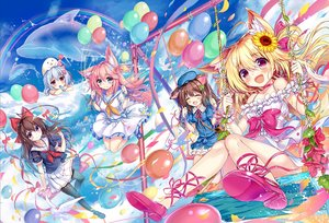Rating: Safe Score: 41 Tags: akabane_(zebrasmise) animal_ears blonde_hair blue_eyes blush bow brown_hair candy clouds dress flowers food gray_hair group hat ice_cream long_hair original pink_hair purple_eyes ribbons school_uniform sky summer_dress sunflower water User: BattlequeenYume