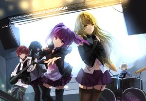 Rating: Safe Score: 132 Tags: aisha_(elsword) black_eyes black_hair blonde_hair blue_eyes chung_(elsword) drums elbow_gloves elsword elsword_(character) gloves group guitar instrument long_hair male microphone navel pointed_ears purple_eyes purple_hair red_eyes red_hair rena_(elsword) short_hair signed skirt swd3e2 thighhighs twintails yellow_eyes User: Flandre93
