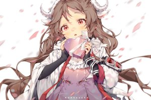 Rating: Safe Score: 46 Tags: animal_ears arknights brown_hair close eyjafjalla_(arknights) horns long_hair monosucre red_eyes valentine watermark User: BattlequeenYume