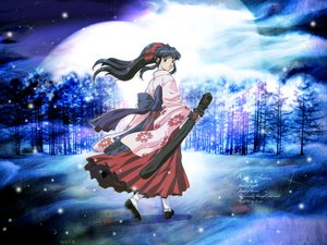 Rating: Safe Score: 25 Tags: japanese_clothes miko sakura_taisen shinguji_sakura snow winter User: Oyashiro-sama