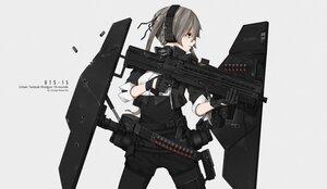 Rating: Safe Score: 29 Tags: armor chinese_robot_kid gloves gray_eyes gray_hair gun headphones original watermark weapon User: boomshadow