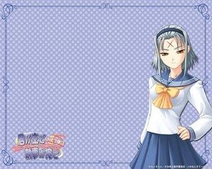 Rating: Safe Score: 0 Tags: gray_hair kimi_ga_aruji_de_shitsuji_ga_ore_de kuki_ageha orange_eyes school_uniform User: elow69