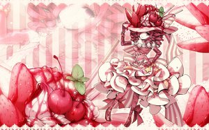 Rating: Safe Score: 24 Tags: cherry dress elbow_gloves food fruit gloves hat lolita_fashion original red_eyes red_hair ribbons strawberry User: HawthorneKitty