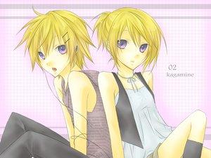 Rating: Safe Score: 19 Tags: aliasing kagamine_len kagamine_rin male vocaloid User: HawthorneKitty