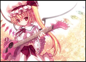 Rating: Safe Score: 56 Tags: blonde_hair dress flandre_scarlet guitar hat instrument kiira long_hair red_eyes ribbons touhou vampire wings User: Tensa