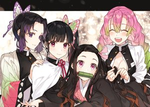 Rating: Safe Score: 30 Tags: black_hair blush breasts cape cleavage gag group japanese_clothes kamado_nezuko kanroji_matsuri kimetsu_no_yaiba kimono kochou_shinobu loli long_hair pink_eyes pink_hair ponytail purple_eyes red_eyes shirako_miso short_hair tsuyuri_kanao User: otaku_emmy
