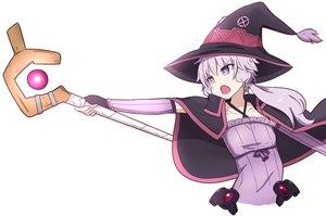 Rating: Safe Score: 16 Tags: cape cosplay flat_chest gloves hat kakihitoshirazu kono_subarashii_sekai_ni_shukufuku_wo! long_hair mage purple_eyes purple_hair staff vocaloid voiceroid white witch_hat yuzuki_yukari User: otaku_emmy