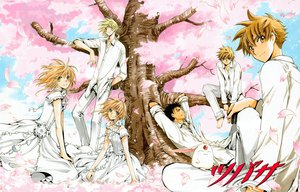 Rating: Safe Score: 16 Tags: black_hair blonde_hair blue_eyes brown_eyes brown_hair cherry_blossoms clamp dress fay_d_flourite flowers group kurogane mokona petals sakura_(tsubasa) syaoran tsubasa_reservoir_chronicle User: Maboroshi