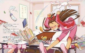 Rating: Safe Score: 7 Tags: brown_hair bunny candy idolmaster minase_iori tears User: 秀悟