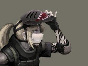Rating: Safe Score: 211 Tags: armor blonde_hair gloves hellshock mask original pointed_ears ponytail suzumi_(hellshock) tattoo User: TommyGunn