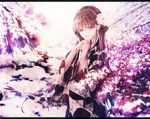 Rating: Safe Score: 51 Tags: brown_eyes brown_hair flowers japanese_clothes kimono long_hair original polychromatic saijou_haruki User: BattlequeenYume