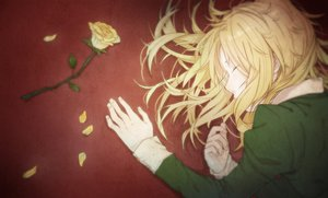 Rating: Safe Score: 105 Tags: blonde_hair flowers gunni ib long_hair mary_(ib) petals rose User: FormX