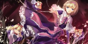 Rating: Safe Score: 128 Tags: alice_margatroid blonde_hair blue_eyes bow doll dress elise_(piclic) headband mage purple ribbons shanghai_doll touhou User: Flandre93